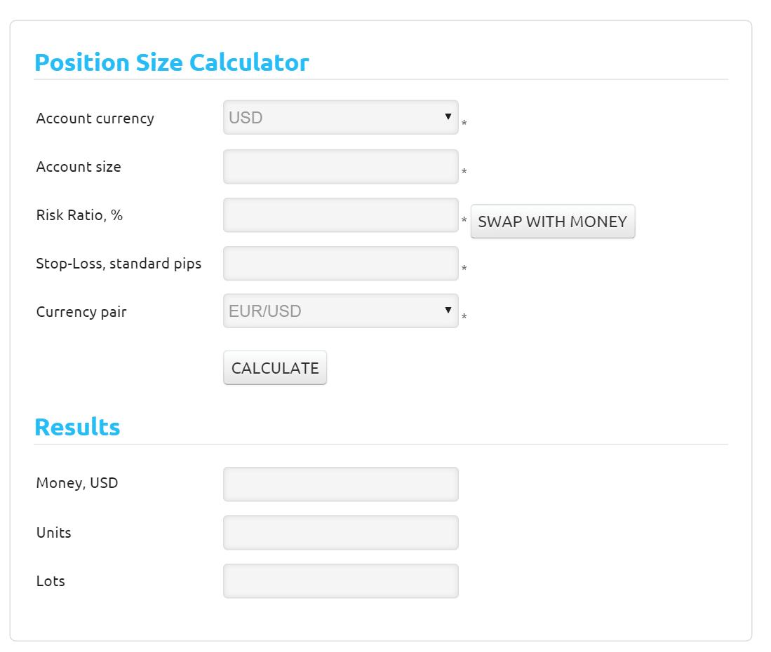 Forex money management calculator